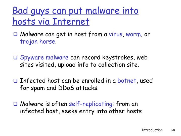 Malware can get in host from a