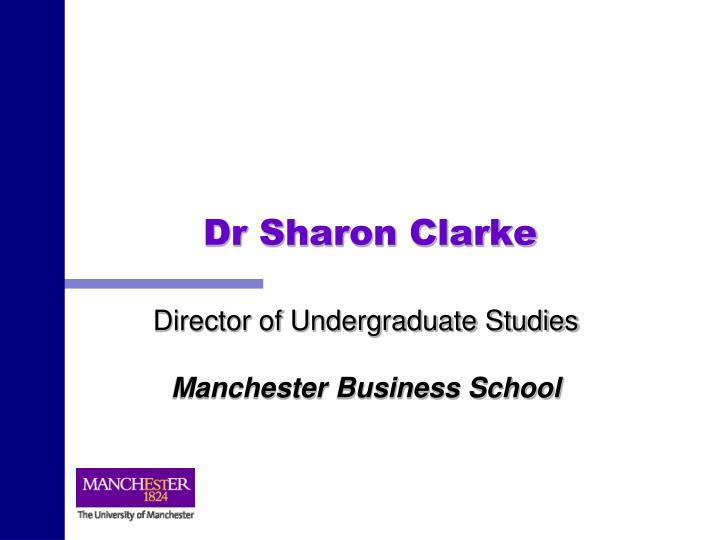 Dr Sharon Clarke