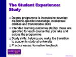 the student experience study