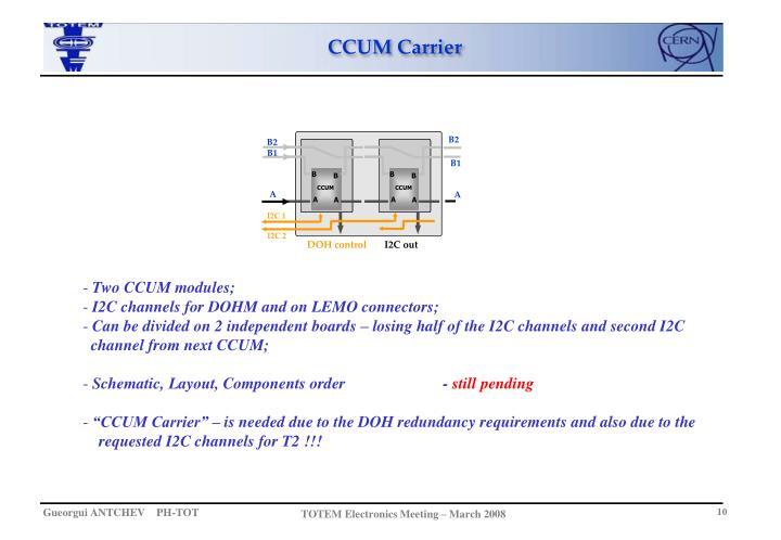 CCUM Carrier
