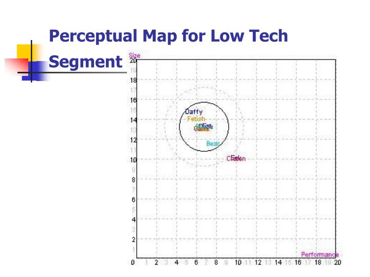 Perceptual Map for Low Tech Segment
