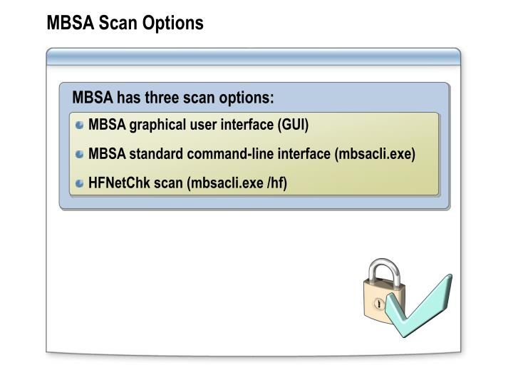 MBSA Scan Options