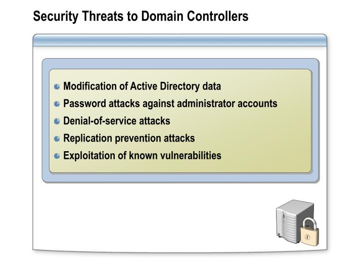 Security Threats to Domain Controllers