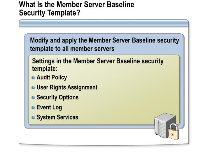 What Is the Member Server Baseline Security Template?