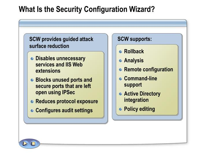 What Is the Security Configuration Wizard?