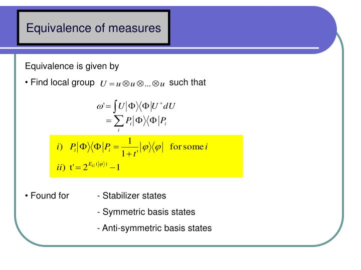 Equivalence of measures