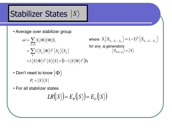 Stabilizer States