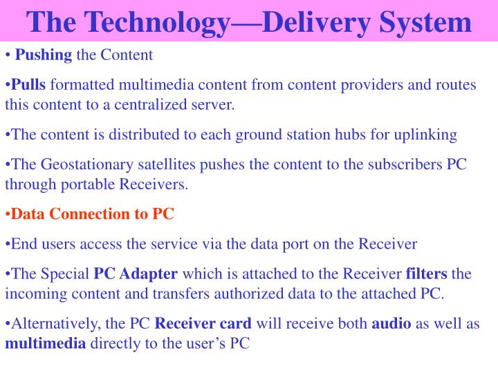 The Technology—Delivery System