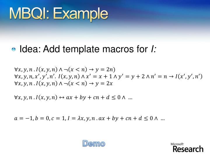 MBQI: Example