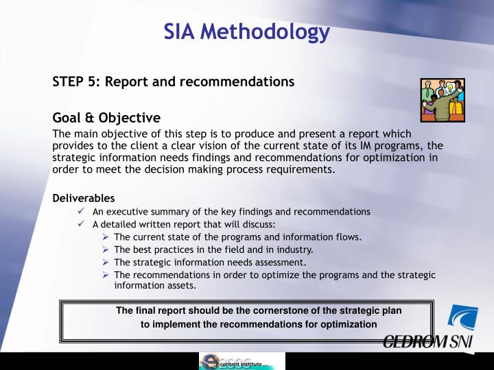 STEP 5: Report and recommendations