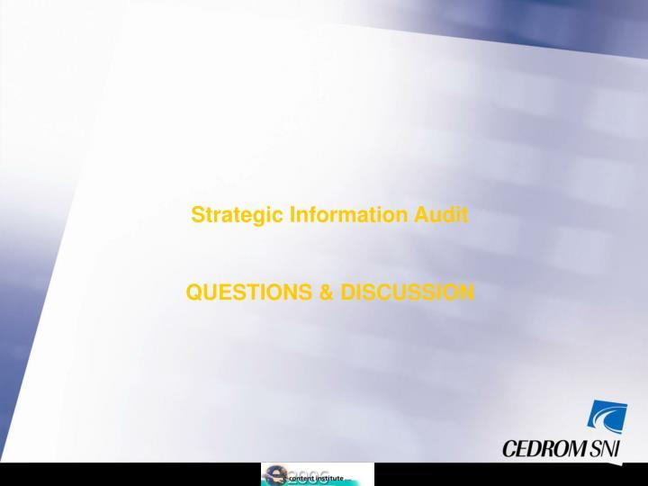 Strategic Information Audit