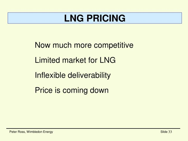 LNG PRICING