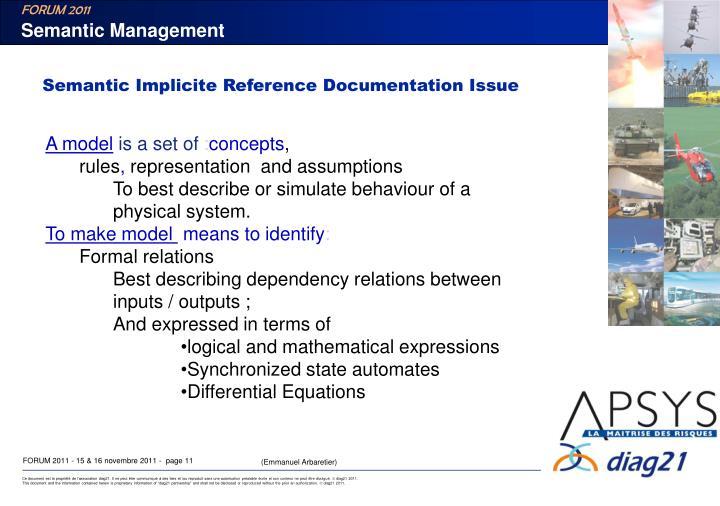Semantic Management