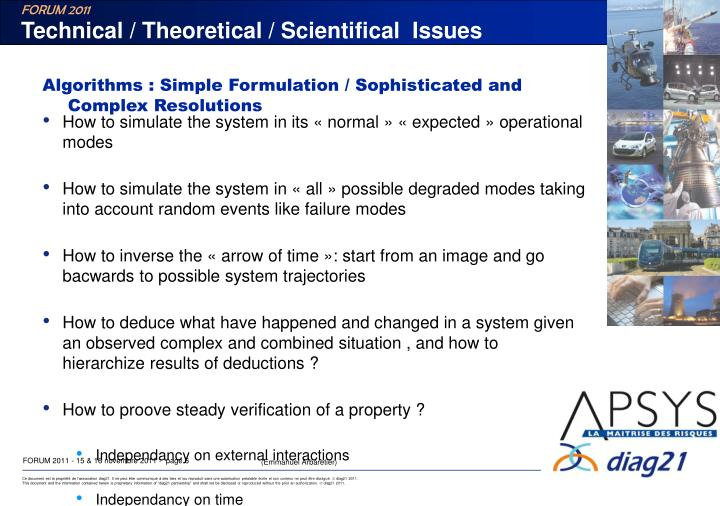 Technical / Theoretical / Scientifical  Issues