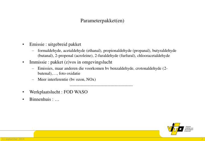 Parameterpakket(en)