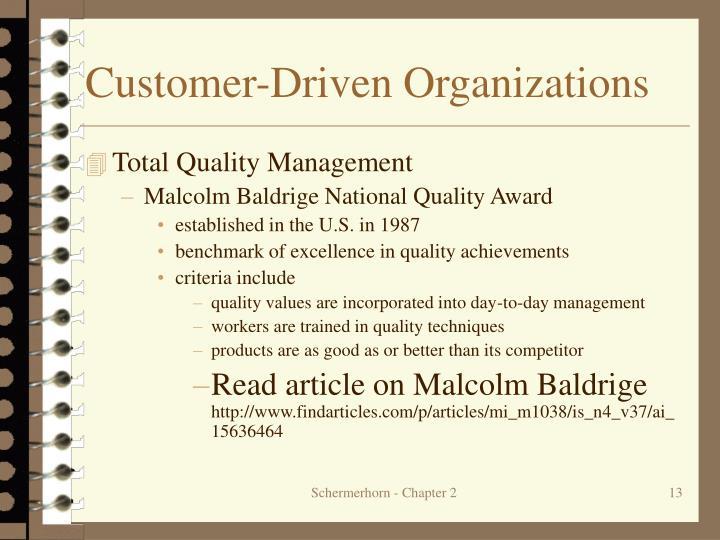 Customer-Driven Organizations
