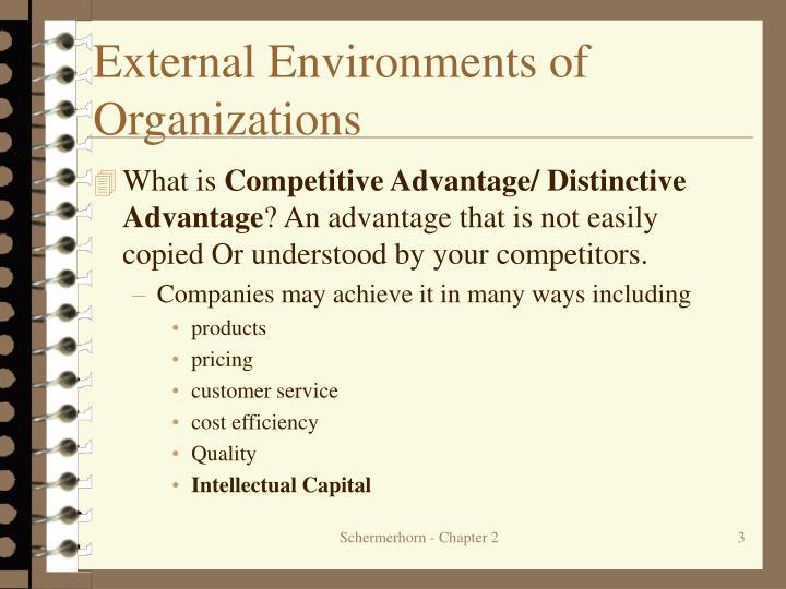 External Environments of Organizations