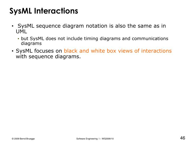SysML Interactions