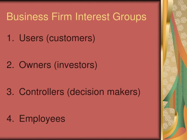 Business Firm Interest Groups