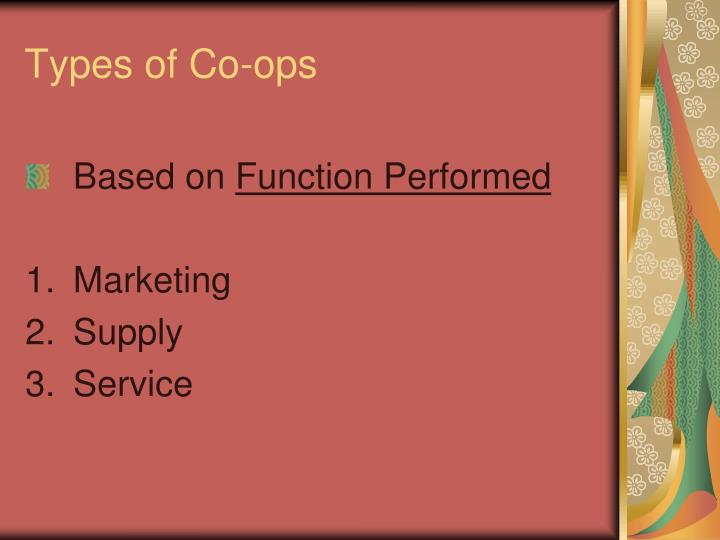 Types of Co-ops