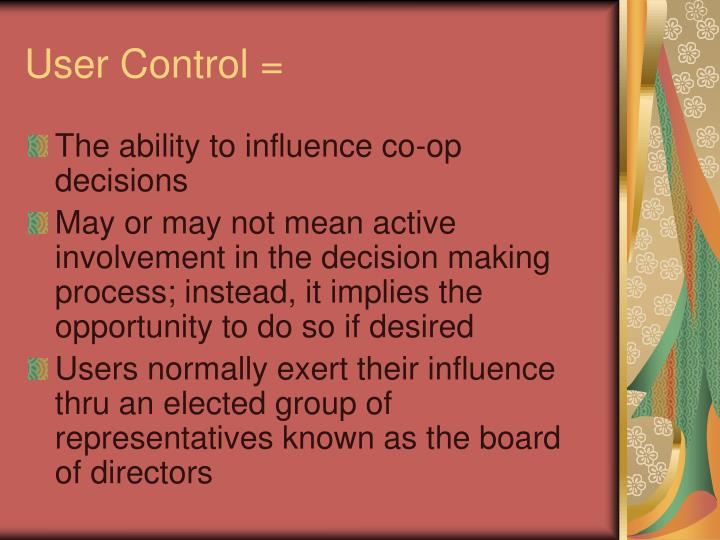 User Control =