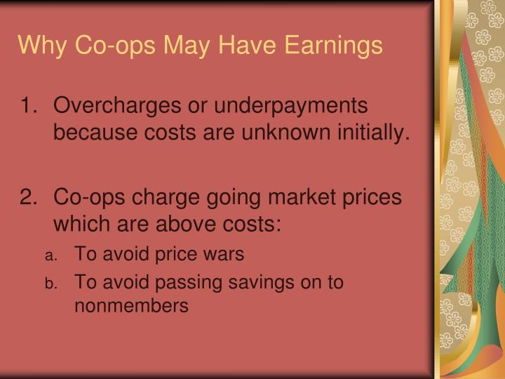 Why Co-ops May Have Earnings