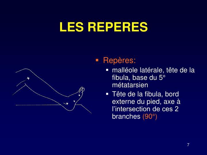 LES REPERES