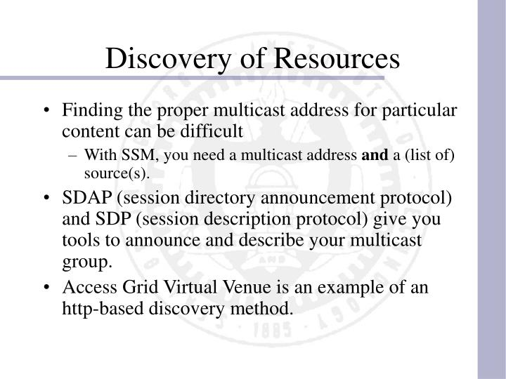 Discovery of Resources