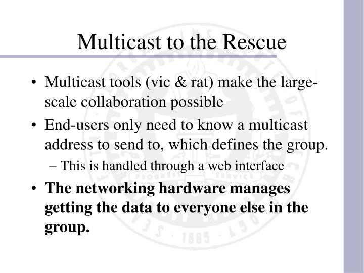 Multicast to the Rescue