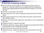 external crossing angles