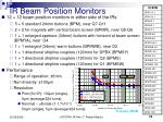 ir beam position monitors