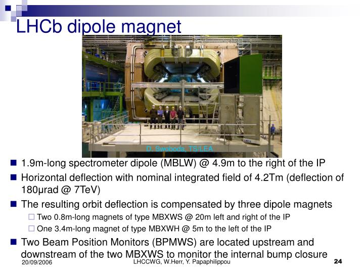 LHCb dipole magnet