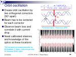 orbit oscillation