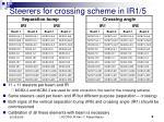 steerers for crossing scheme in ir1 5