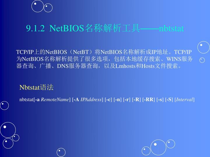 9.1.2  NetBIOS