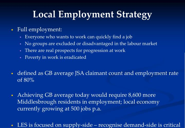 Local Employment Strategy