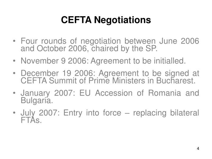 CEFTA Negotiations