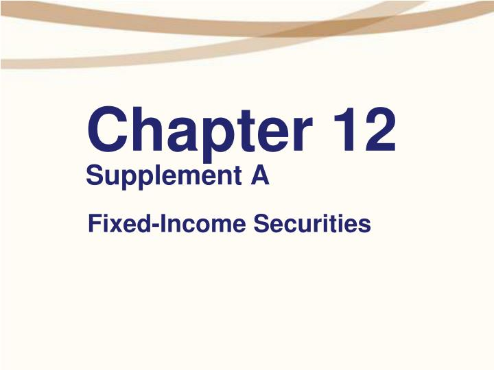 Chapter 12 supplement a