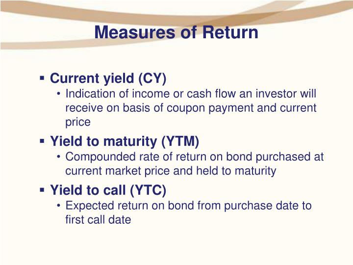 Measures of Return