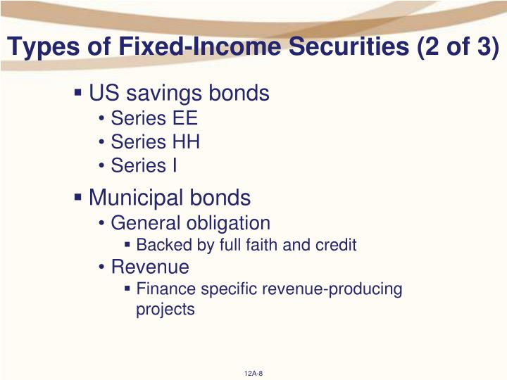 Types of Fixed-Income Securities (2 of 3)