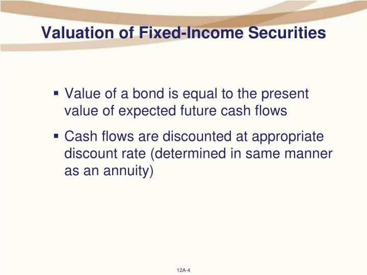 Valuation of Fixed-Income Securities