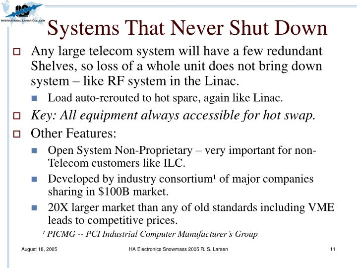 Systems That Never Shut Down