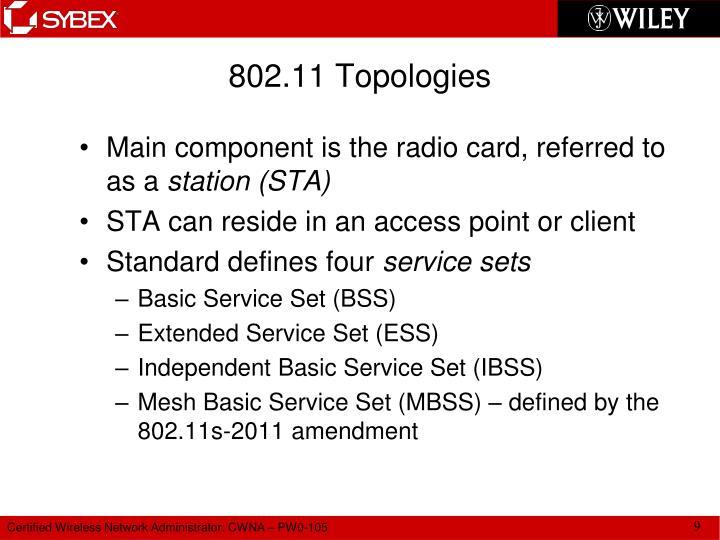 802.11 Topologies