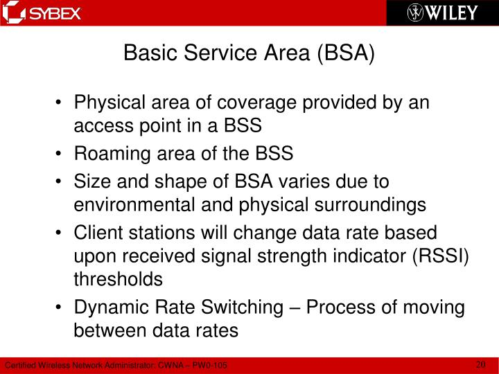 Basic Service Area (BSA)