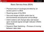 basic service area bsa