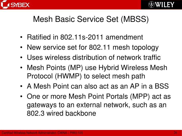 Mesh Basic Service Set (MBSS)