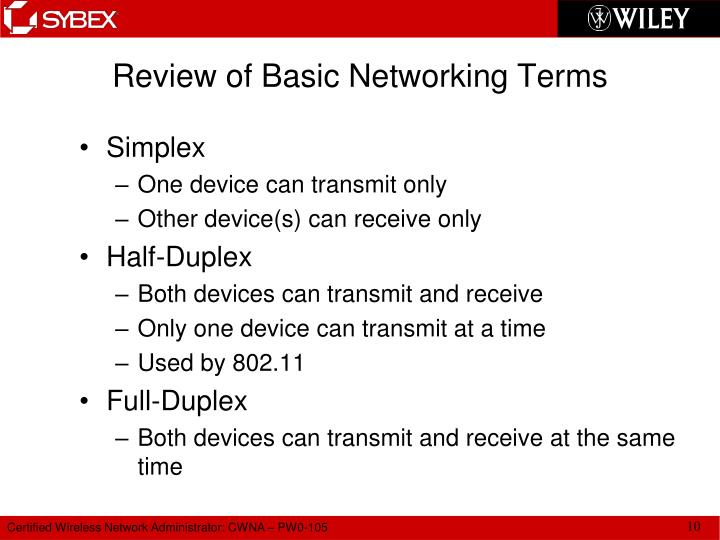Review of Basic Networking Terms