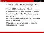 wireless local area network wlan