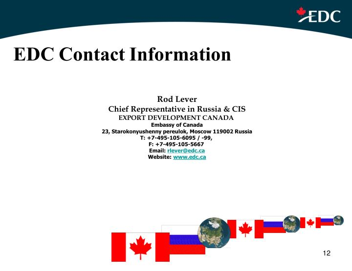 EDC Contact Information