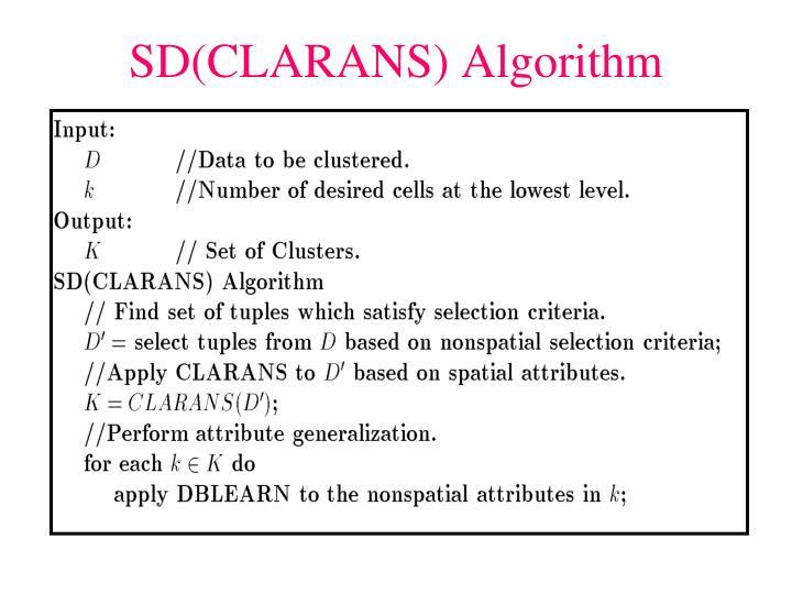 SD(CLARANS) Algorithm